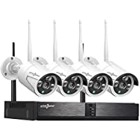 Active Pixel 1080P 2MP AUTO-Pair Wireless System 4 Channel HD WiFi NVR kit with 4X1080p HD Outdoor/Indoor Waterproof Wireless IP Security Cameras