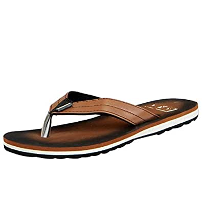 A-HA by Liberty Men's Kf-16 Brown Hawaii House Slippers - 10 UK/India (45 EU)