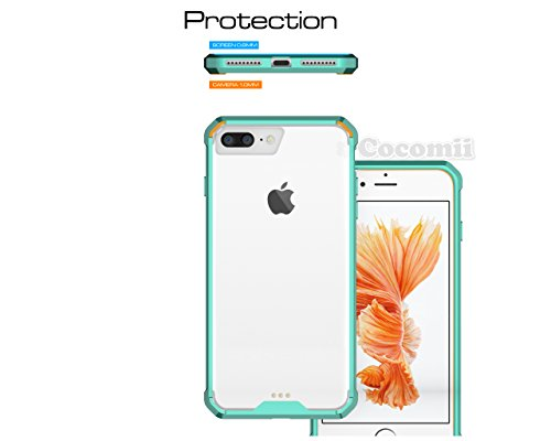 iPhone 8 Plus / 7 Plus Hülle, Cocomii Modern Armor NEW [Crystal Clarity] Premium HD Clear Anti-Scratch Shockproof Hard Bumper Shell [Slim Fit] Full Body Ultra Thin Lightweight Transparent Cover Case S Mint