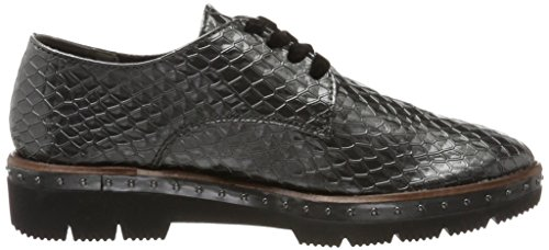 Marco Tozzi 23729, Oxford Zapatos Mujer Gris (pewter Str.pat)