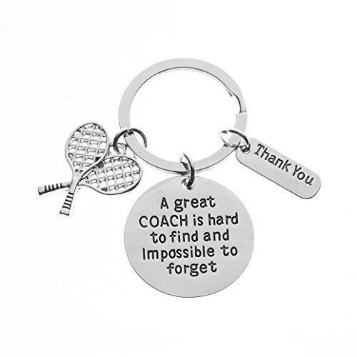 Infinity Collection Tennis-Trainer Schlüsselanhänger, Tennis-Trainer-Geschenke, Groß Coach ist hart Coach Schlüsselanhänger zu Finden - Lehrer Silber Armband