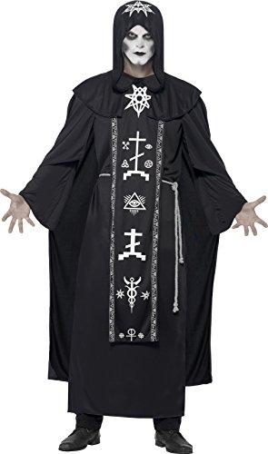 Robe Ideen Halloween Kostüm (Smiffy's 45571 - Unisex Dunkle Kunst Ritual Kostüm, Vermummtes Gewand und Gürtel, One Size,)