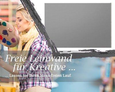 Leinwand mit Winter SALE in silber, bemalbare Premiumqualität, aufgespannt auf Galerie Keilrahmen - Echtholz - Digital-Format - 100x80 cm - 310g/m² - fertig gerahmt, 7 Farben verfügbar - eigene Herstellung bei Bilderdepot24, faire Produktion in Deutschland