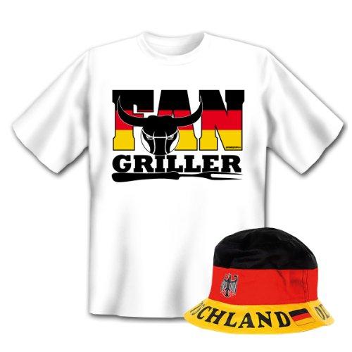 Geniales Outfit für Sport Freunde - Fan Griller T-Shirt + Mütze
