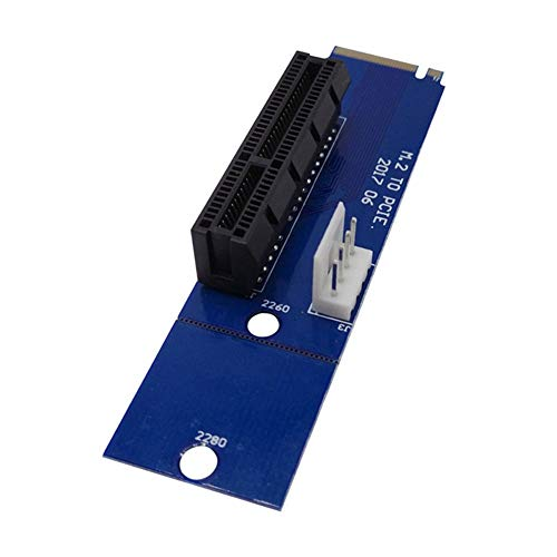 Fishyu PCI-E 4X Buchse auf NGFF M.2 M Stecker Adapter Konverter Karte für Desktop PC -