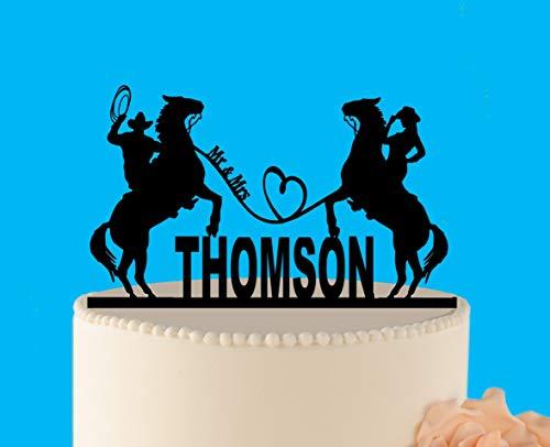 Tortenaufsatz für Hochzeitskuchen, rustikal, Cowboy-Topper, Shabby Chic, Hochzeits-Dekoration, L202006