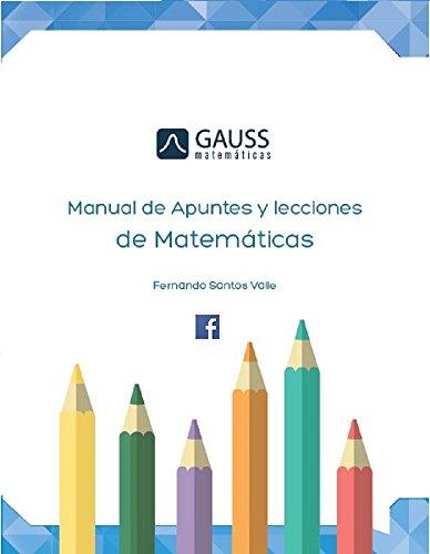 Manual de apuntes y lecciones de matematicas: Aritmética y álgebra por Fernando Santos