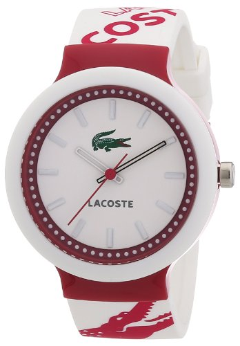 Lacoste - 2010523 - Unisex Watch - Analogue Quartz -  White and Pink Silicone Strap