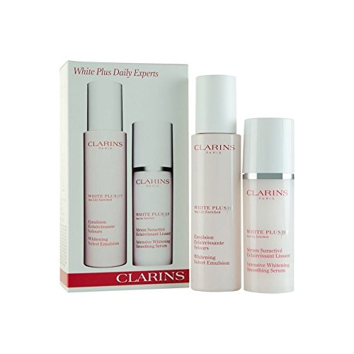 Clarins White Plus HP Confezione Regalo 75ml Whitening Velvet Emulsione + 30ml Intensive Whitening Smoothing Siero