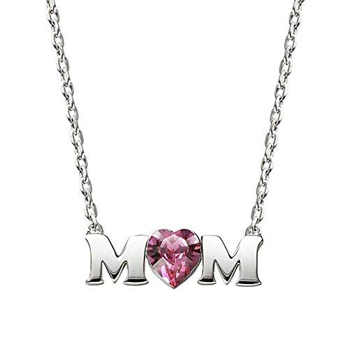 Kaxima Collier pour femme Maman S925 argent Sterling collier chaîne de clavicule cadeau de fête des mères maman.
