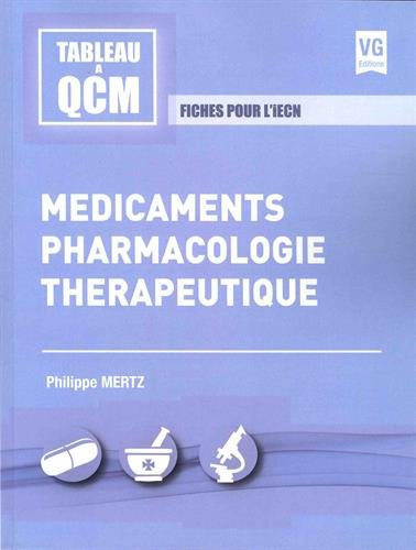 Mdicaments, pharmacologie, thrapeutique