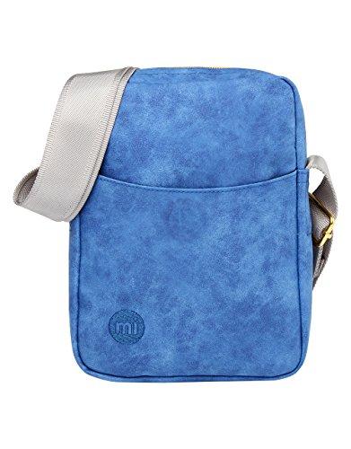 Mi-Pac Gold Flight Bag Bolso Bandolera, 21 cm, 1.7 Litros, Nubuck Roy Blu