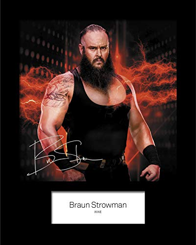 WWE-Foto, Braun, Sträuman #5, signiert, 25,4 x 20,3 cm