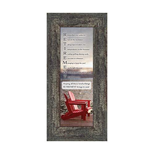 Frames of Mind Retirement, Geschenke für Männer und Frauen Bilderrahmen, Ruhestandsfeier, Geschenk Ideen, 6x 127768G 6x12 Barnwood3