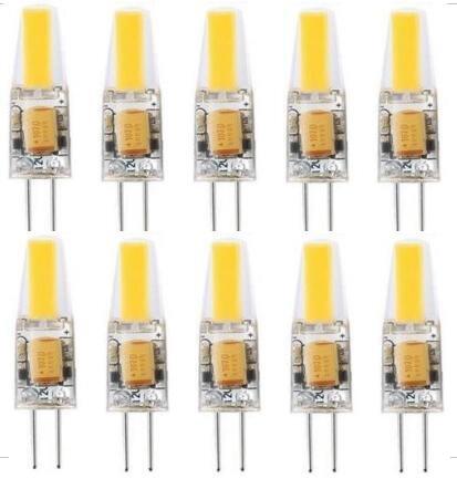 Best to buy® Bombilla LED G4–Pack de 10G4LED Bombilla 3W 270Lúmenes [equivalente a 20W halógeno, AC/DC 12V, Blanco cálido, ángulo de haz de 360°] G4LED Bombilla