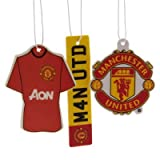 Official Manchester United FC Car Air Freshener (3 Pack) - A Great Gift / Present For Men, Sons, Husbands, Dads, Boyfriends For Christmas, Birthdays, Fathers Day, Valentines Day, Anniversaries Or Just As A Treat For Any Avid Football Fan