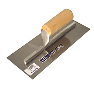 Bon 12-652 – Llana de acabados (acero de alto carbono, mango de madera recto, 40,6 x 7,6 cm)