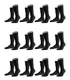 FALKE Herren Family Socken Strümpfe 14645 12er Pack, Sockengröße:47-50;Artikel:14645-3000 black