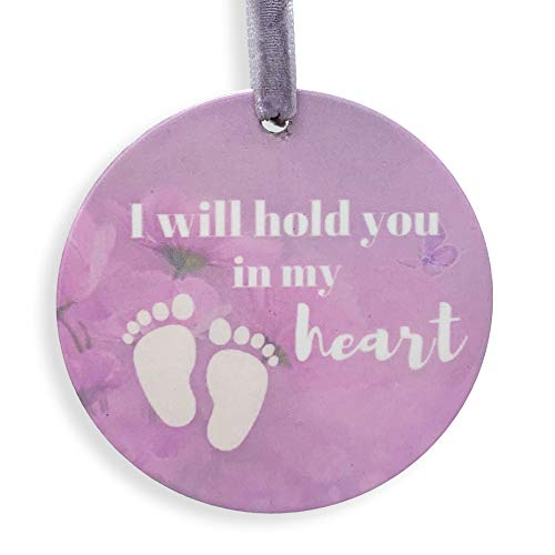 Banberry Designs Engel-Baby-Gedenk-Weihnachts-Ornament - in Loving Memory of Our Little Angel - Fußabdruck und Himmel - Erinnerungsstück - Little Angel Miscarriage