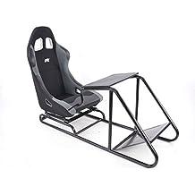 Game Seat für PC und Spielekonsolen Stoff schwarz/grau