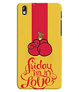 Fuson 3D Printed Love Designer back case cover for HTC Desire 816 - D4625