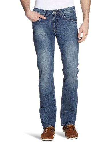 H.I.S Jeans Herren Jeans Niedriger Bund Jeans Randy HIS121-10-1055 Blau (w4014; blue velvet)