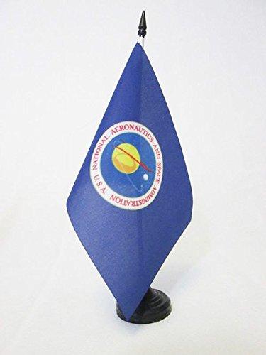 NASA DER VEREINIGTEN Staaten 21x14cm - NATIONAL Aeronautics and Space Administration TISCHFAHNE 14 x 21 cm - flaggen ()