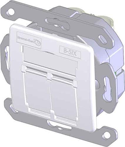 Brand-Rex DNT Datendose Cat.6 2xRJ45 BSCG245SU002 RAL 9010 Kommunikationsanschlussdose Kupfer 5050268255433