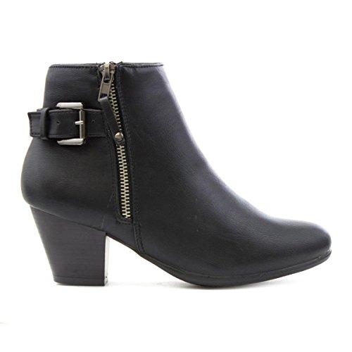 Comfort Plus, Bottes pour Femme Noir