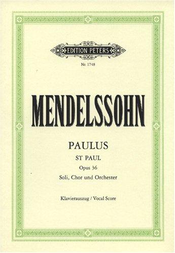 Paulus Op. 36 (Ka) Chant par Felix Mendelssohn Ba