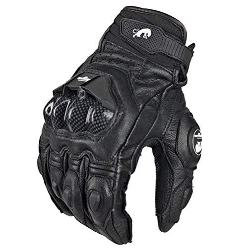 Guanti da moto impermeabili Guanti da moto in pelle da equitazione Moto da corsa Fibra da ciclismo per Racing Cross bik