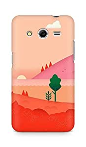 Amez designer printed 3d premium high quality back case cover for Samsung Galaxy Core 2 (Google Lollipop August Red Mountain Love)