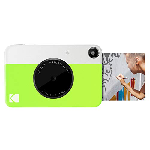 Kodak PRINTOMATIC Digital Instant Print Camera Green Full Color Prints On ZINK 2x3 Sticky-Backed Photo Paper - Print Memories Instantly