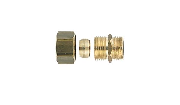 Boutt/é 3139696 Raccord bic/ône laiton m/âle 12x17 Tube /Ø14