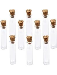 Mini Corcho Cristal Botella De Largo Cilindro Frascos Viales Desean Botella Nota Del Amor 10pc