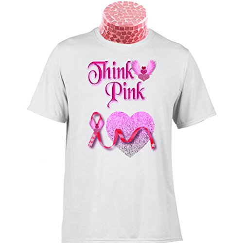 PINK RIBBON GIFT T SHIRT Think Pink. 10% donated to Cancer Research UK. Can Be Personalised. Excellent gift for Mum, Nan, Sister, Aunt, Girlfriend, Fiance, Friend, Colleague, Boss, Carer, Nurse