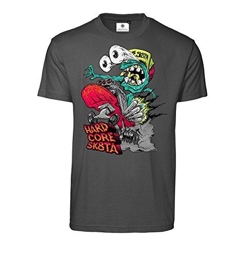 Bedrucktes Herren Streetwear T-Shirt mit Motiv Hardcore Skater Koks