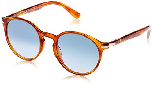 Persol Herren 3171 Sonnenbrille, Braun (Terra Diiena/Azure Blue), 52