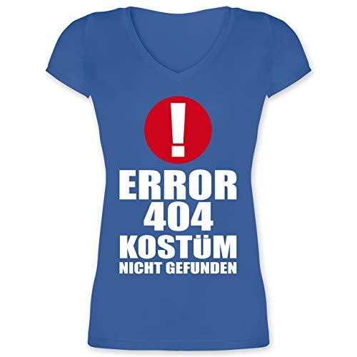 Karneval & Fasching - Error 404 Kostüm Nicht gefunden - XL - Blau - XO1525 - Damen T-Shirt mit V-Ausschnitt