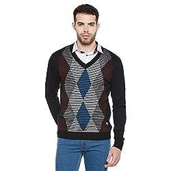 Duke Men Casual Sweater 1968078031 Black Coloured Large