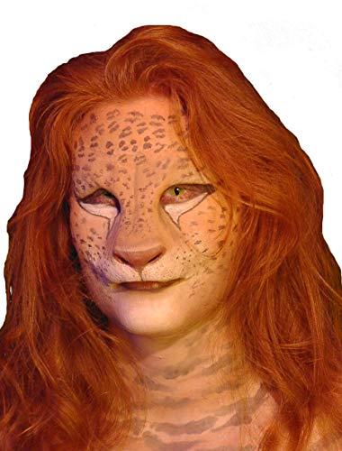Der König Löwen Kostüm Party - Maskworld Löwen-Maske aus Latex - Halbmaske König der Tiere - hautfarben
