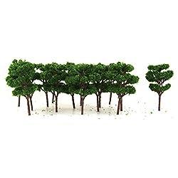 Generic 25pcs 6.8cm Dark Green Model Trees Train Set Garden Scenery Layout Z Scale
