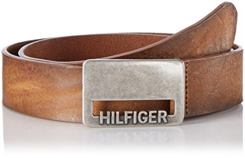 Hilfiger Denim Herren Gürtel Thd Cut Plaque Belt 4.0 Braun (Walnut 068)