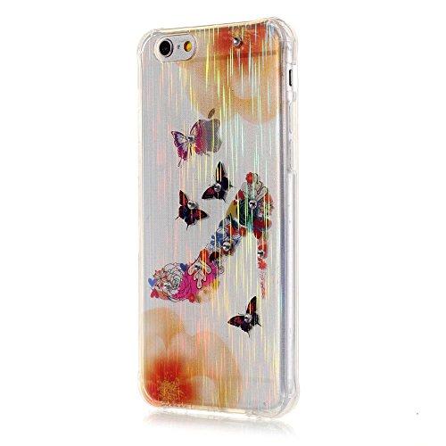 MOONCASE iPhone 6S Coque, Brushed Glitter Sparkle Bling Coloré Motif Étui Coque pour iPhone 6 / 6S (4.7 inch) Soft TPU Gel Souple Case Housse de Protection Wind chimes High Heels