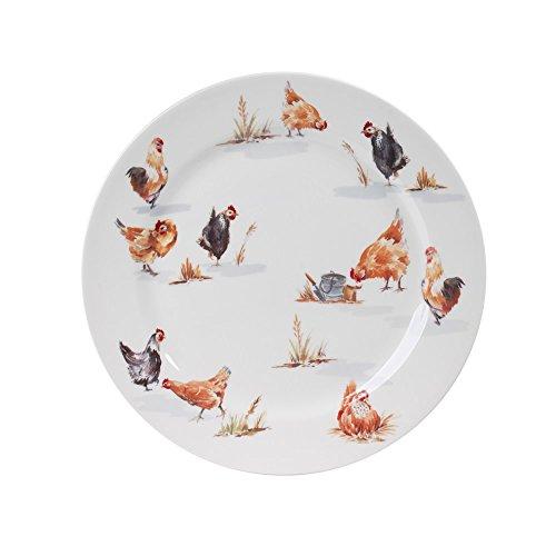 Assiette plate Poule Campagne 26 cm (Lot de 6)