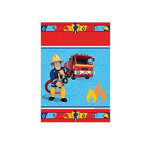 Lot 8 sachet surprise Sam le pompier - Sac Cadeau Bonbon Fête Anniversaire - 808