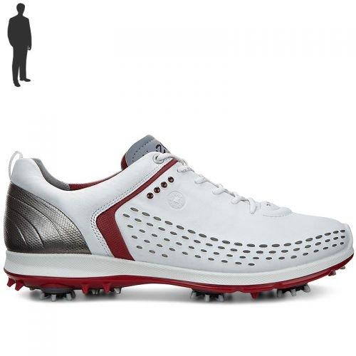Ecco 2016 Mens Biom G2 Golf Shoes – White/Brick – UK 10.5 EU 45