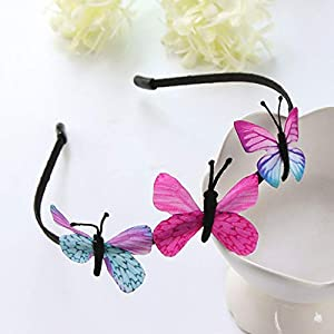 guangxichuangshengxinfu New released Fashion Jewelry Butterfly Headband Hair Decor Hair Lovely Gift Kids Party New
