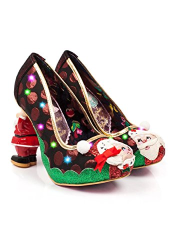 Irregular Choice Mr and Mrs Clause Molded Santa Heels Size 6.5