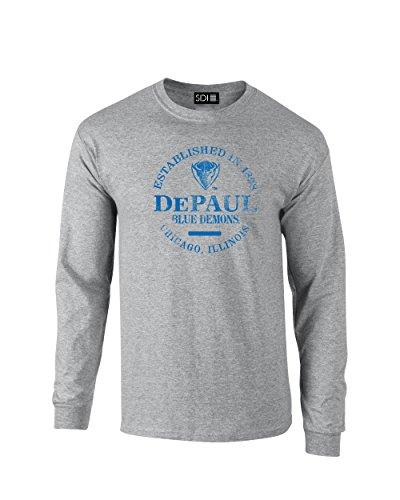 Preisvergleich Produktbild NCAA DePaul blau Demons Unisex NCAA 100%,  Lange Ärmel,  Sport Grau,  groß